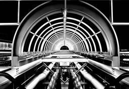 04 JFK Tram Station.  New York by Joe Constantino