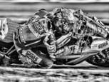 Knee down at speed by Rick Menapace