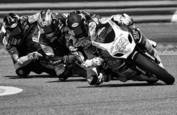 Superbike racers by Rick Menapace
