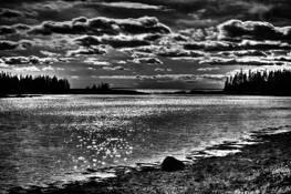 Acadia Night Fall by Edward Ries