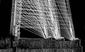 Brooklyn Bridge Glowing Cables by Joe Constantino