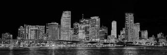 Miami Skyline by Steven Greenbaum