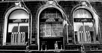 Boston Stock Exchange by Len Blau