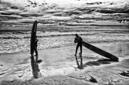 Beach Surfers by John Van Aken