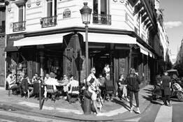 Sunday Cafe-time by David W. Goodrich