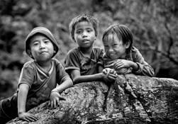 Myanmar Village Children by Elaine Jones Heron