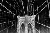Brooklyn Bridge at Night by Mary F. Ruppert