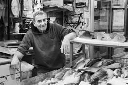 Fish Vendor Machane Yehuda Market by Bob Neiman