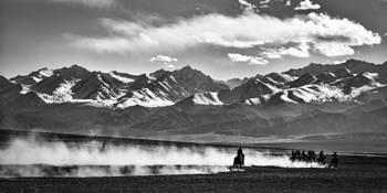 Tajik Tribesmen Playing Buzkashi #11 by John Eaton