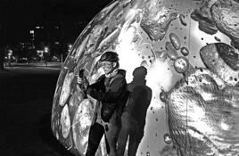 Selfie at the Orb by Art Braitman