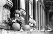 Two Kids with BasketballsLooking by Jack Feder
