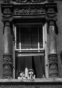 Two Kids in a Baroque Window by Jack Feder