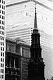 Trinity Church with the WTC  Being Built by Jack Feder
