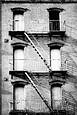 Building with One Window Black by Jack Feder