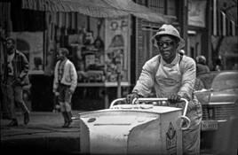 Ice Cream Man With Hardhat by C. Al Wood