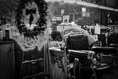Christmas Eve at Barber Shop by C. Al Wood
