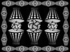 Escher's Polka Dot Lampshades by William R. West, Jr.