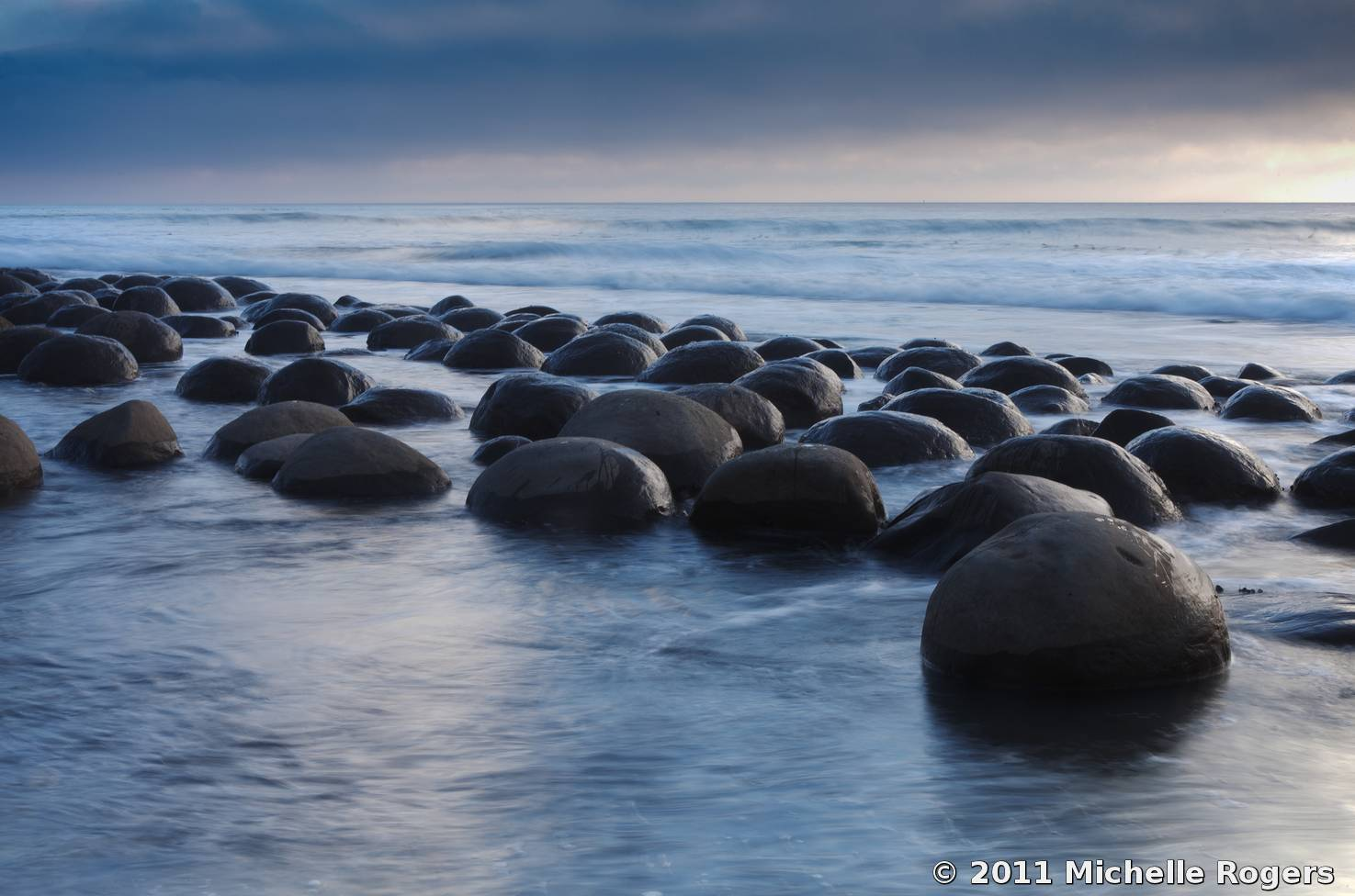 Bowling Ball Beach By Michelle Rogers Black White Magazine For