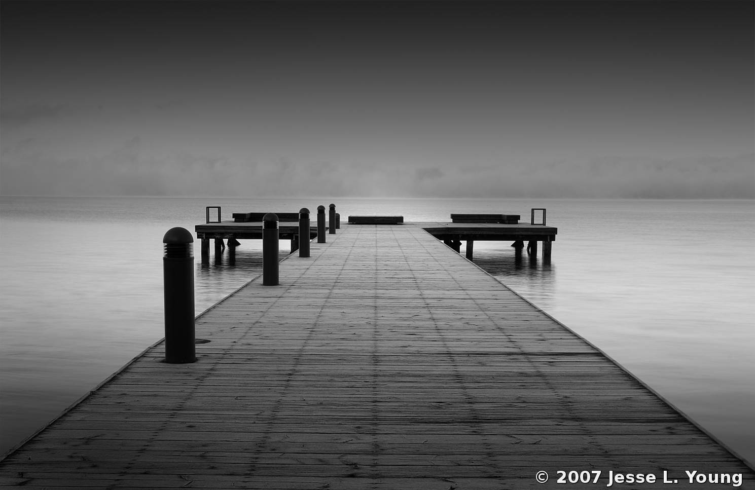 Magnificent Frost Covered Dock By Jesse L Young Black White Gmtry Best Dining Table And Chair Ideas Images Gmtryco