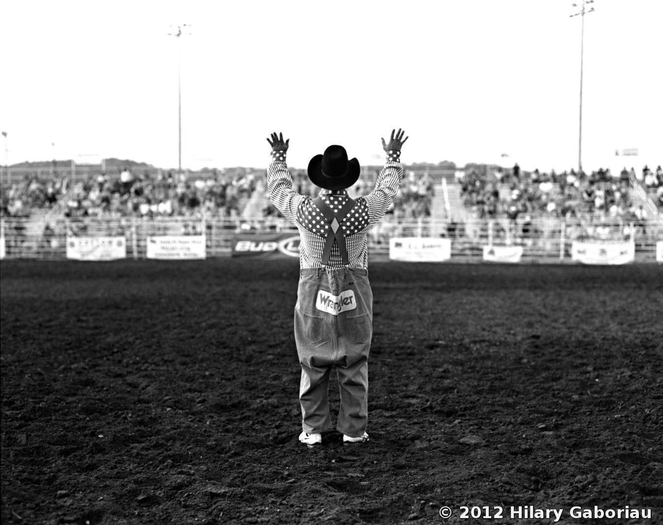 Rodeo Clown by Hilary Gaboriau | Black & White Magazine | For