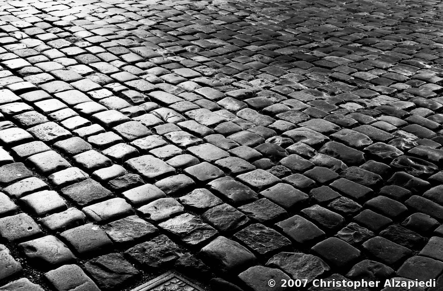 Cobblestones By Christopher Alzapiedi Black Amp White