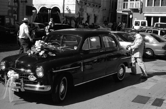 Fiat wedding car