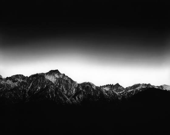 Sierra nevadas at sunset