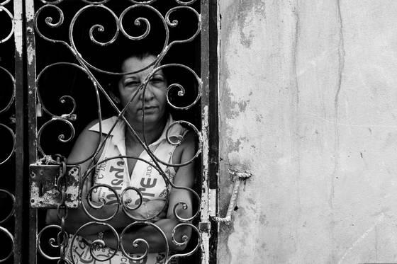 Gated woman