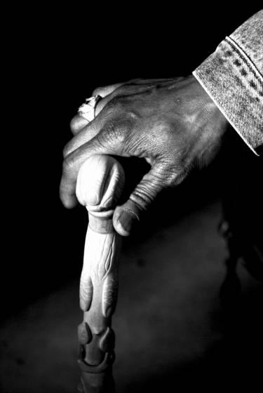 Man holding cane