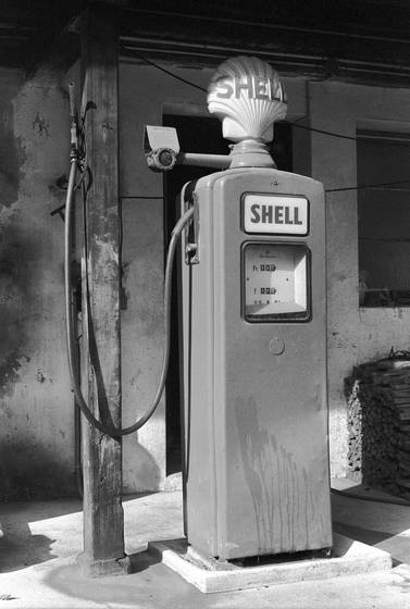 An old petrol pump