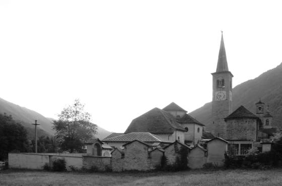 Graveyard and church
