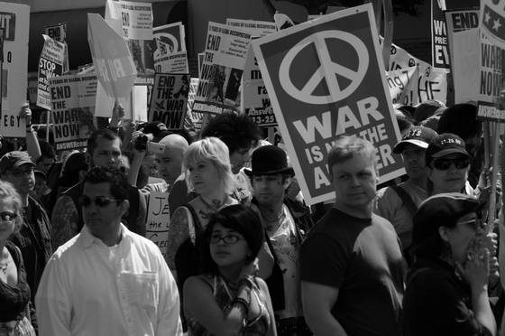 Anti war demonstration