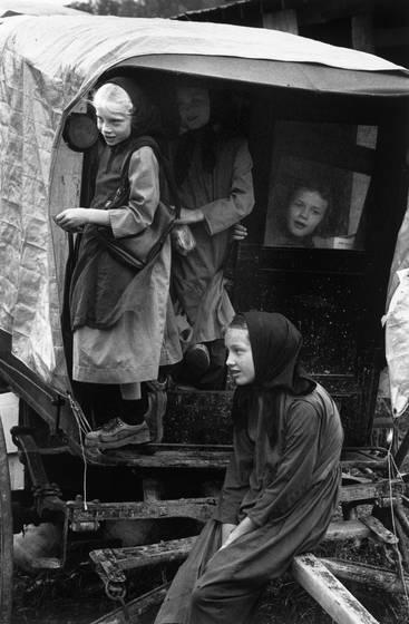 Mennonite girls playing