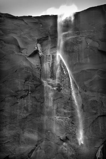 Bridal veil falls and the wind