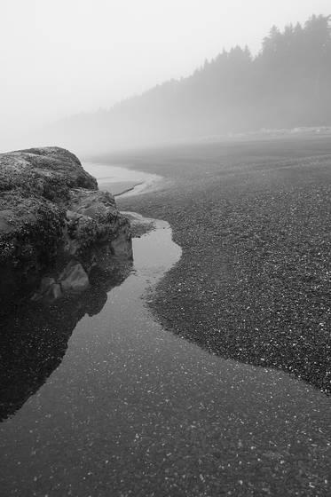 Black beach scenic
