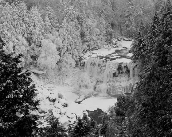 Blackwater falls in winter