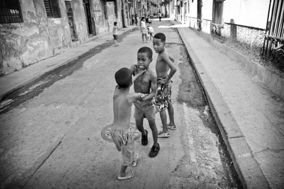 Street kids playing