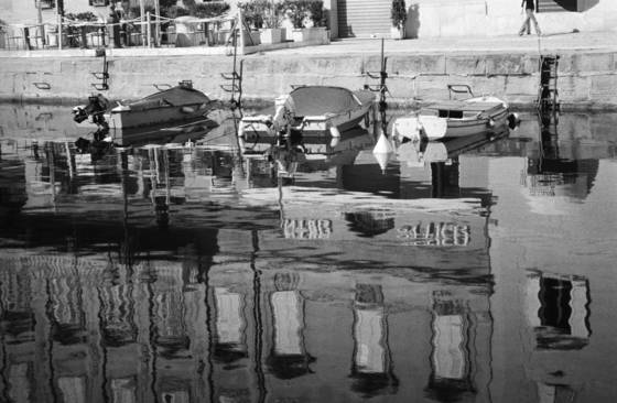 Boats and reflections