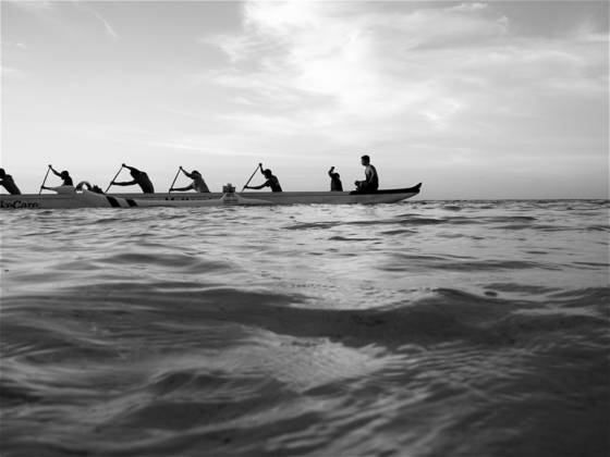 Rowing buddha