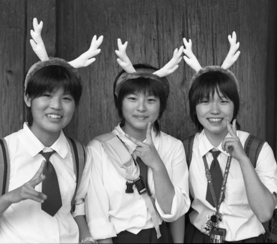 Girls with antlers