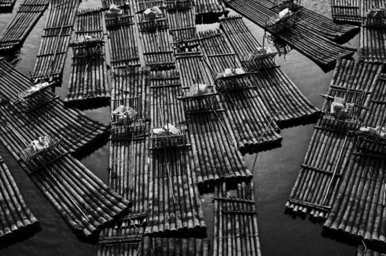 Li river rafts