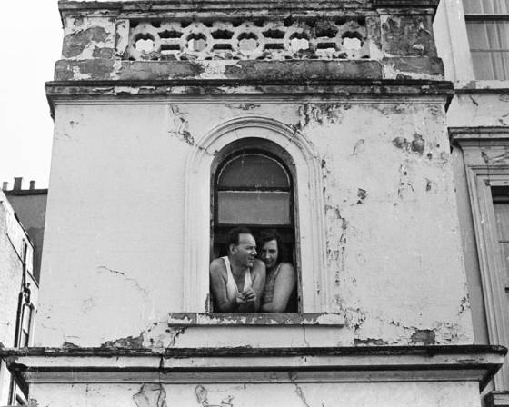 Couple in window