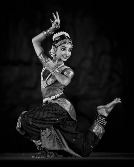 Dancing before arjuna s penance