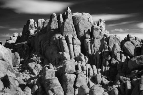 Erupting rocks