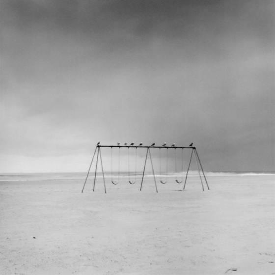 Swings under storm