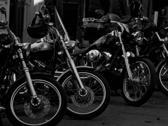 Four harleys