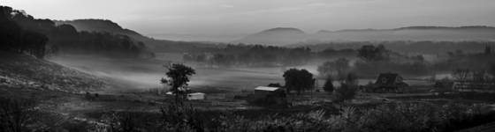Early fog panorama