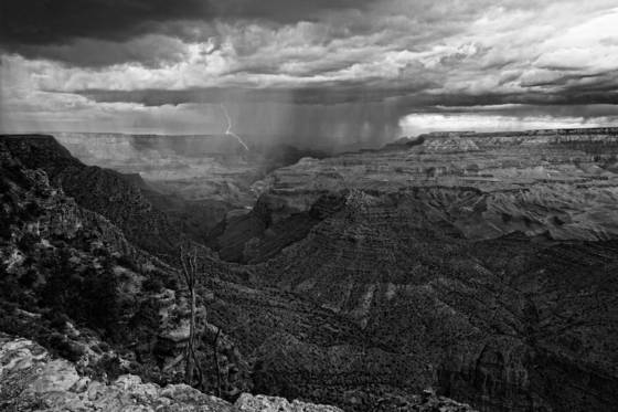 Storm from desert view