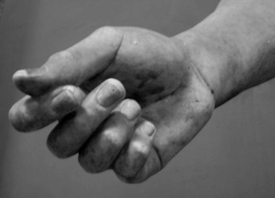 Hand of statue