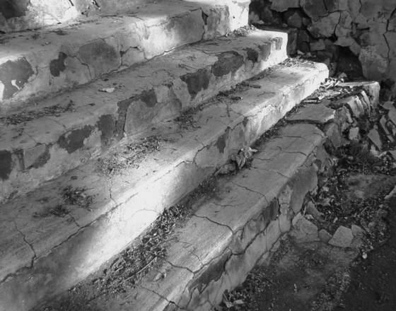 Crumbling stairs